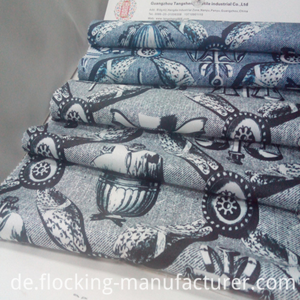 Shining Twill Garment Home Textile Dress Printed Fabric